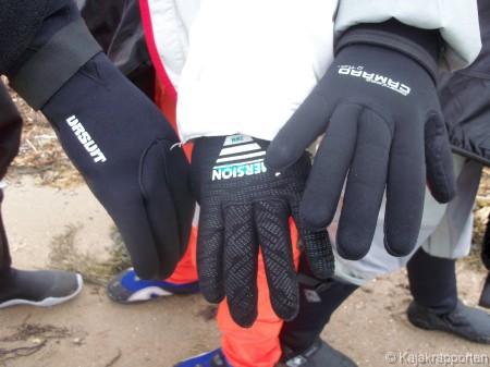 Handskar att paddla i