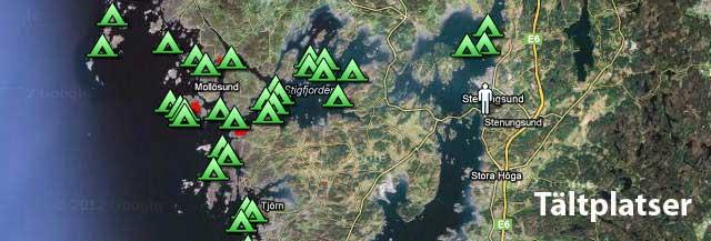Tältplatser Bohuslän