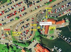 Kartbild över GKFs placering på Saltholmen