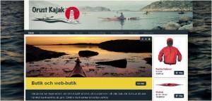 Orust Kajak screenshot ny webbplats
