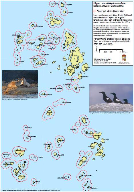 Väderöarna karta fågelskydd naturreservat