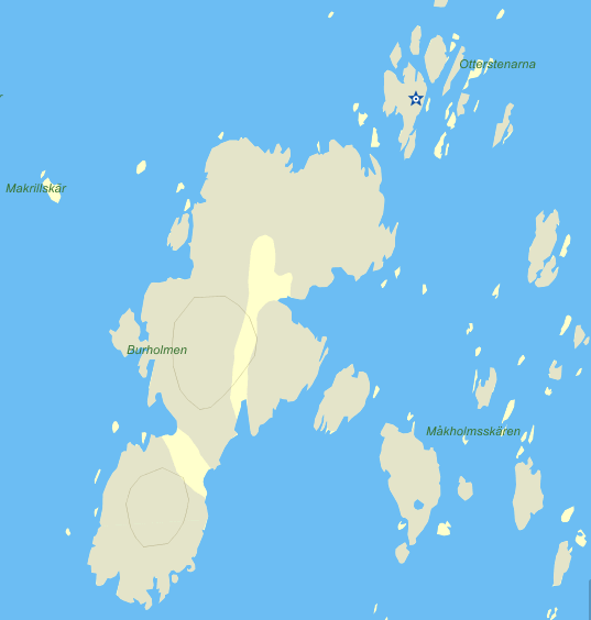 Burholmen Koster kartbild
