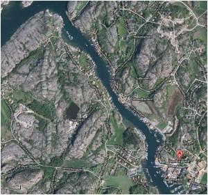 Hamburgsund karta norra delen av sundet