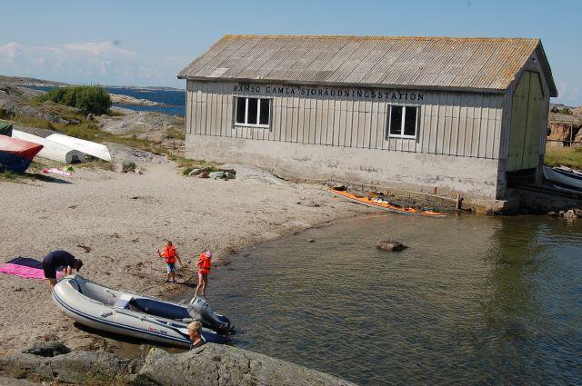 Ramsö Badplatsen inne i hamnområdet
