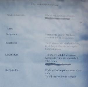 Ramsö Sköna vägbeskrivningar