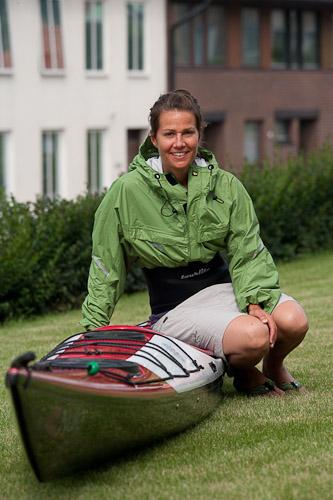 Ulrika Larsson med Arrow Nuka för Danmark Runt. Foto Arrow Kayaks.
