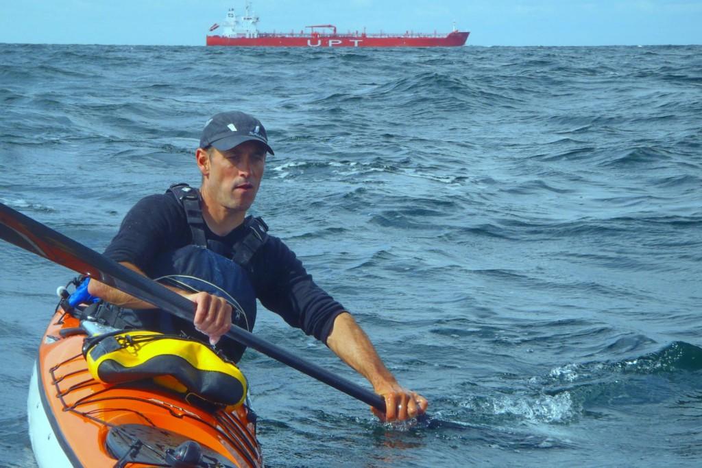 Nick Cunliffe crossing from Jylland to Sjaellands Odde