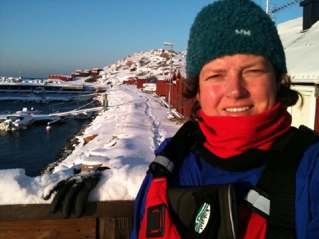 Att paddla på vintern Lysekil