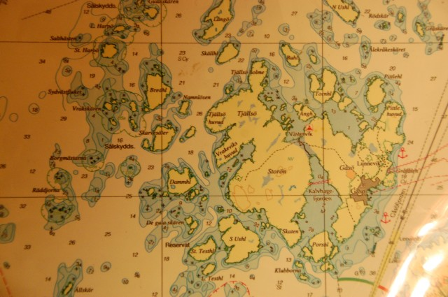 Sjökort Gåsö