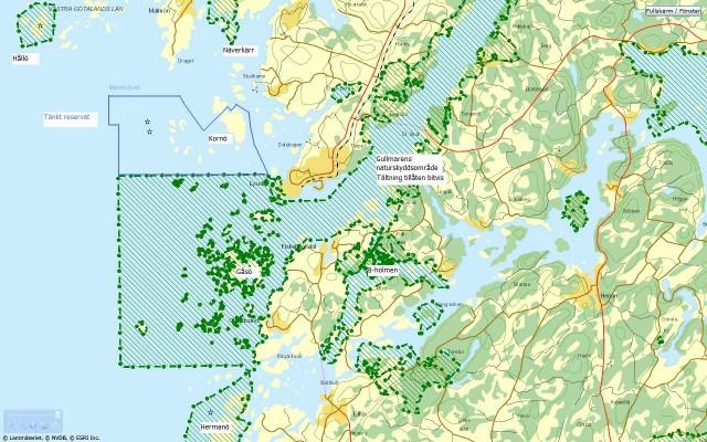 Naturskydd i Lysekils kommun och angränsande paddlingsvatten
