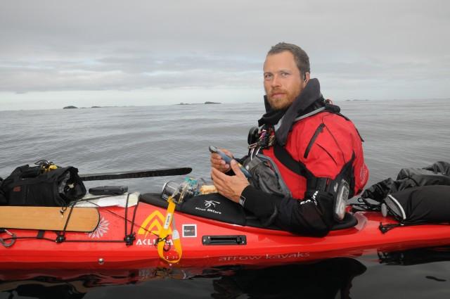 Erik Jørgensen i kajak Norge