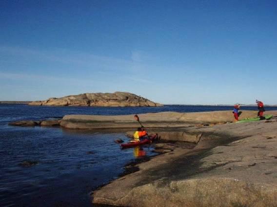 Paddling Gåsö februari 2012
