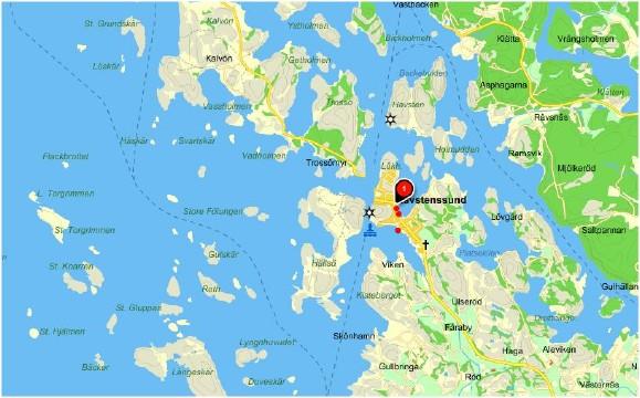 Isättningsplatser Havstenssund