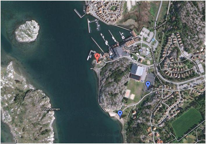 paddling isättningsplats Grebbestad Tanumstrand