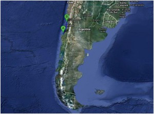 Hoffmeister map position South America April 21st 2012