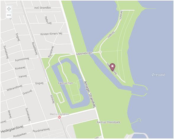 Kajakhotellet kartbild