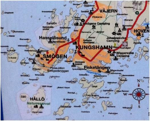Karta Smögen Kungshamn