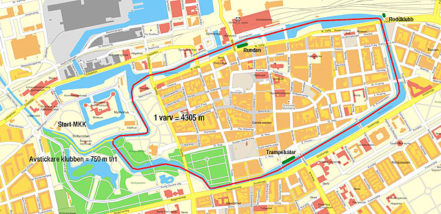 M24KC bana Malmö 24-timmars paddling