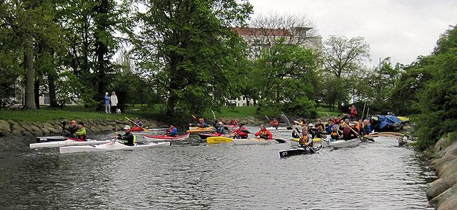 M24KC Malmö starten paddling