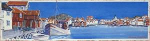 Målning av Ariana Ramhage. Motiv Grundsund