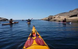 Kajakkalaset Gåsö paddling