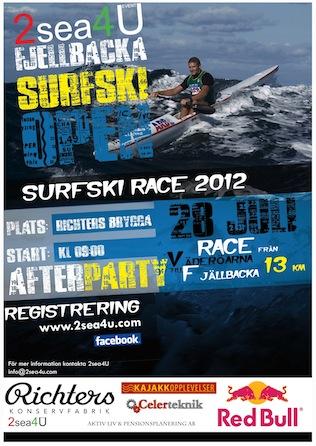 Fjällbacka Surfski Open affisch