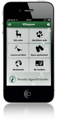 Svenskt vilt i mobilen