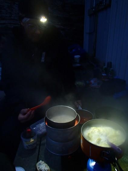 Matlagning på spritkök