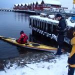 Vinterpaddling isättning Bohuslän