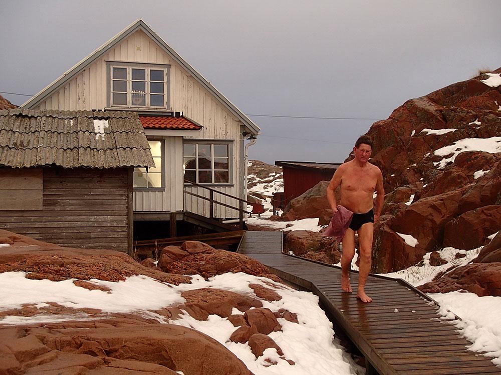 Vinterbad bastu Bohuslän