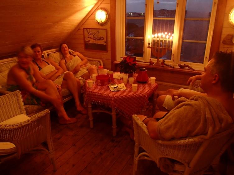 Avslappning efter Vinterpaddling Bohuslän