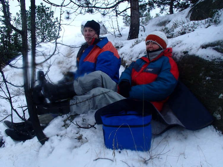 Vinterpaddling lunchpaus