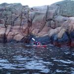 Paddling Gåsö Bohuslän granit