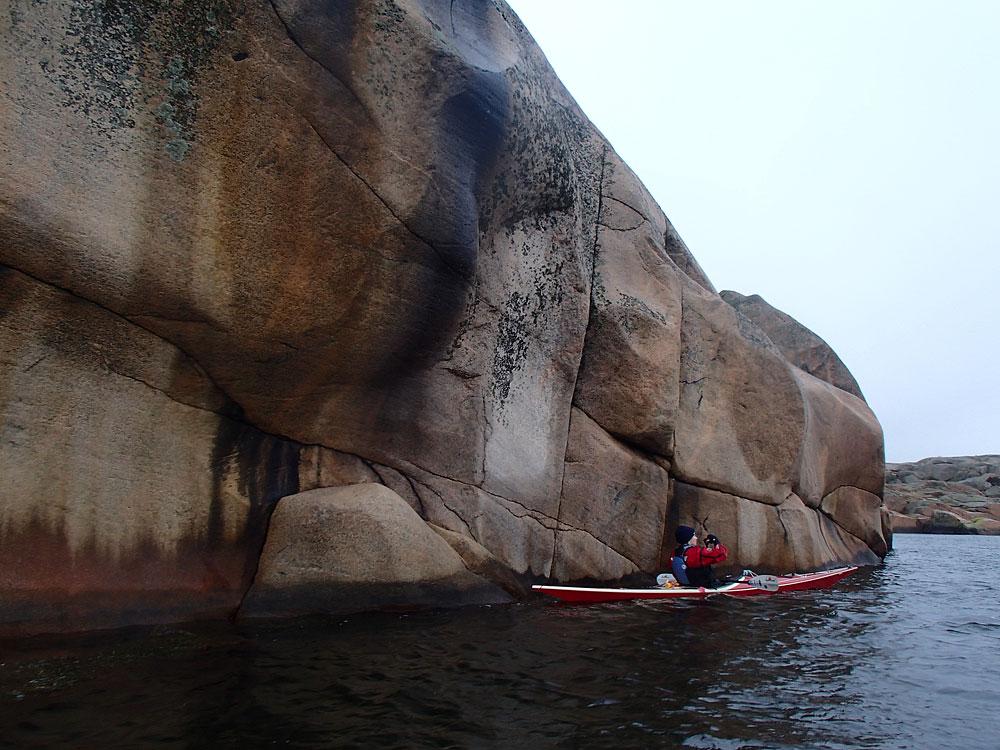 Paddling Gåsö Bohuslän granit klippor