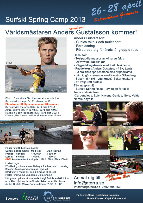 Surfski Spring Camp 2013