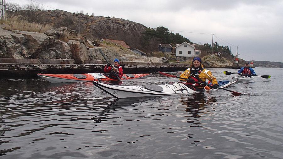 Paddling Bohuslän torrdräkt november