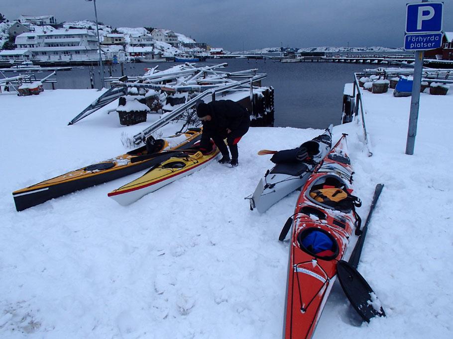Vinterpaddling packning Bohuslän