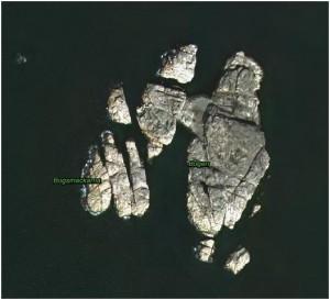 Bogen satellitfoto Fjällbacka skärgård