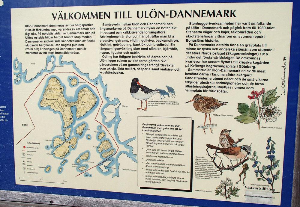 Dannemark naturreservat skylt