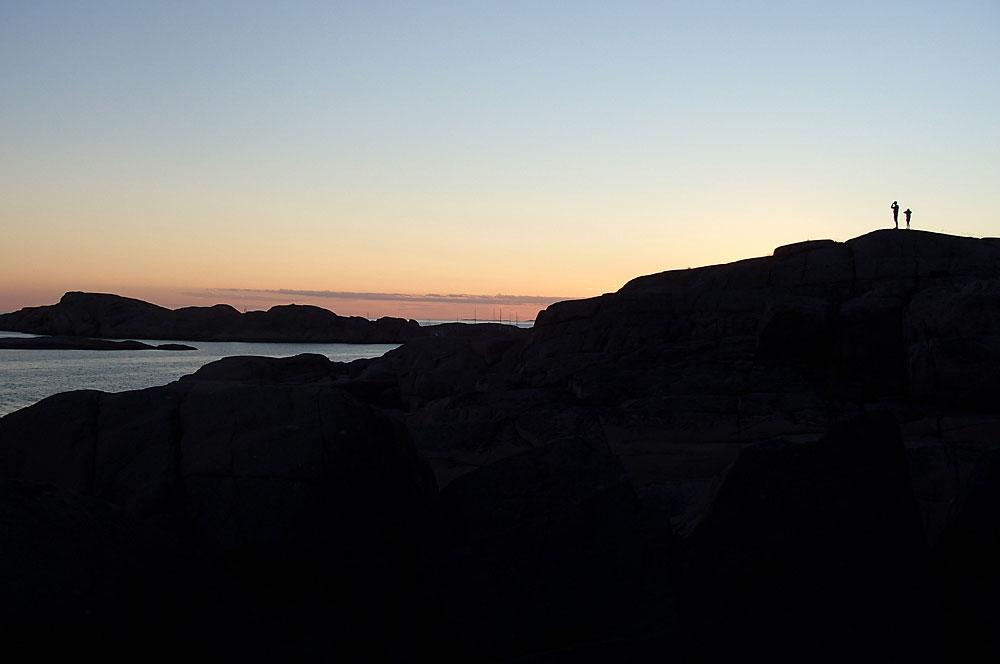 Bohuslän skärgård solnedgång