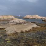 Bohuslän klippor och hav vid Hällsö
