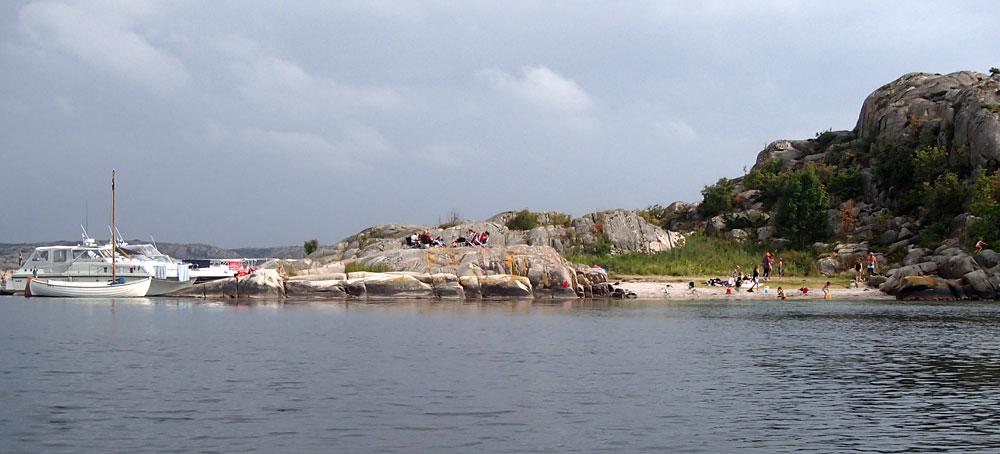 Trinisla badstrand Fjällbacka skärgård