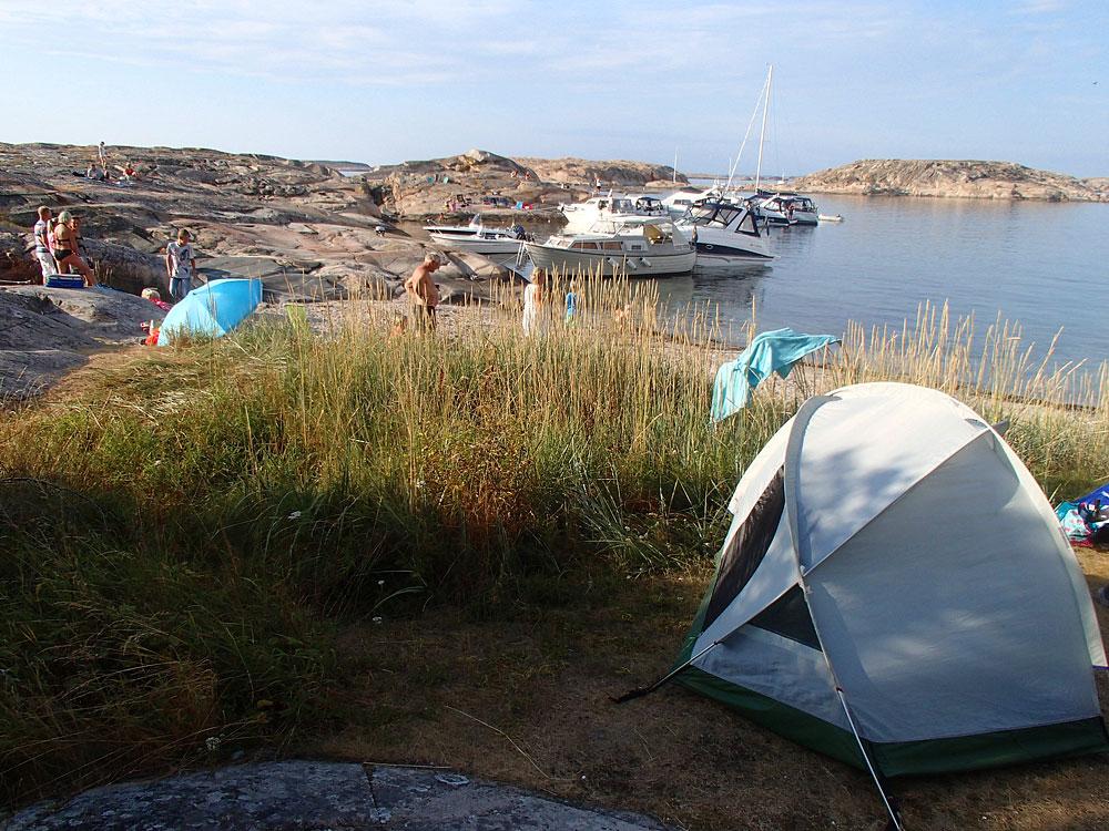 Vedholmen paddling Fjällbacka skärgård tält