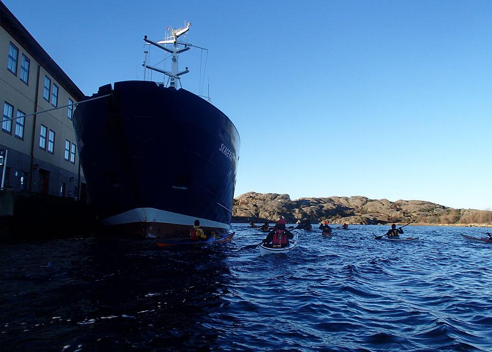 Paddling vid Kristinebergs marinbiologiska station