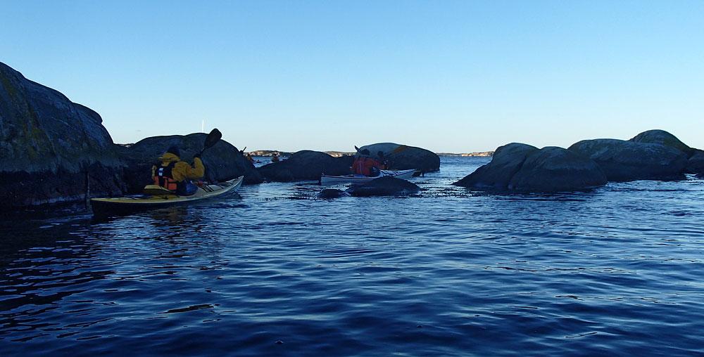 Paddling vid Gåsö nära Lysekil