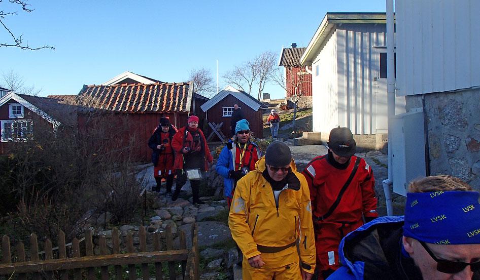 Paddlingspromenad i Gåsö samhälle