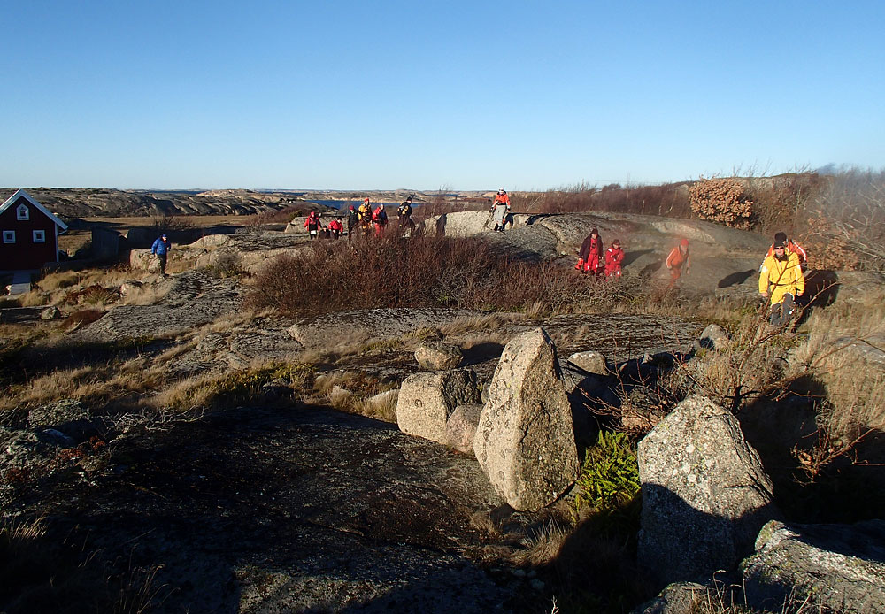 Paddlingspromenad på Gåsö nära Lysekil