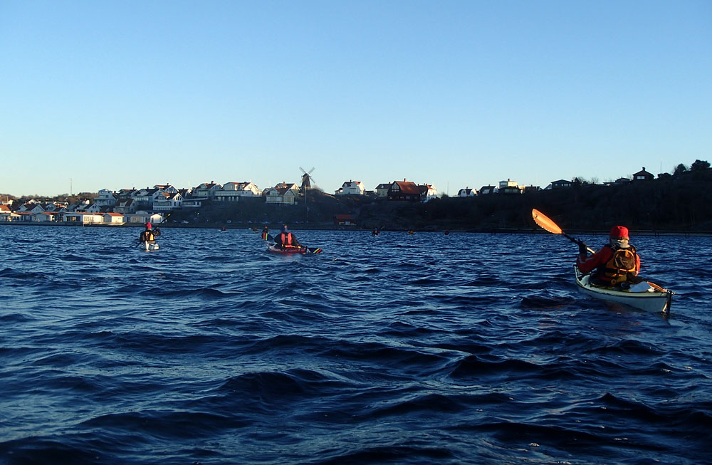 Paddling vid Fiskebäckskil