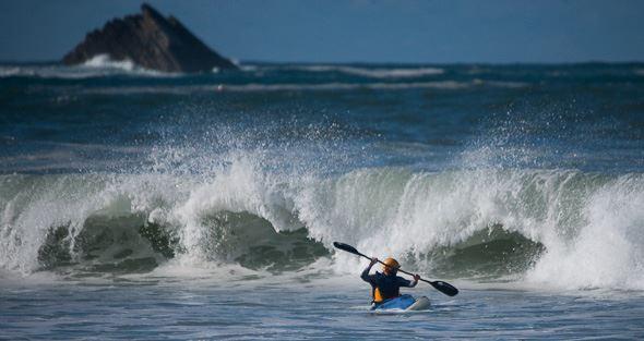 Surfkajak Peniche Portugal. Foto Leif Davidsson