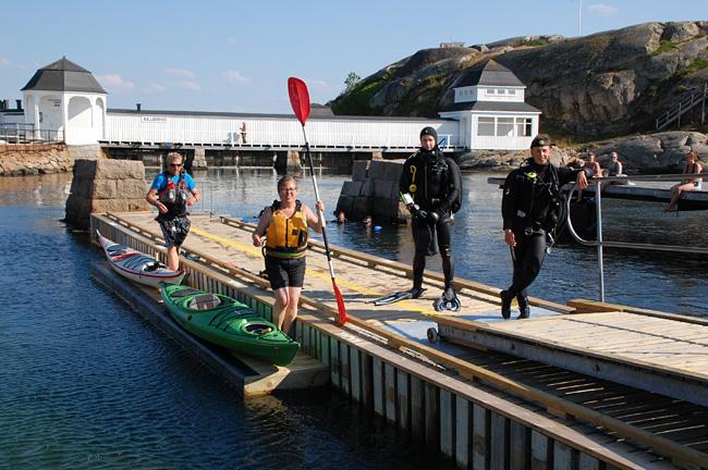 Dyk- och kajakhamn i Lysekil invigd